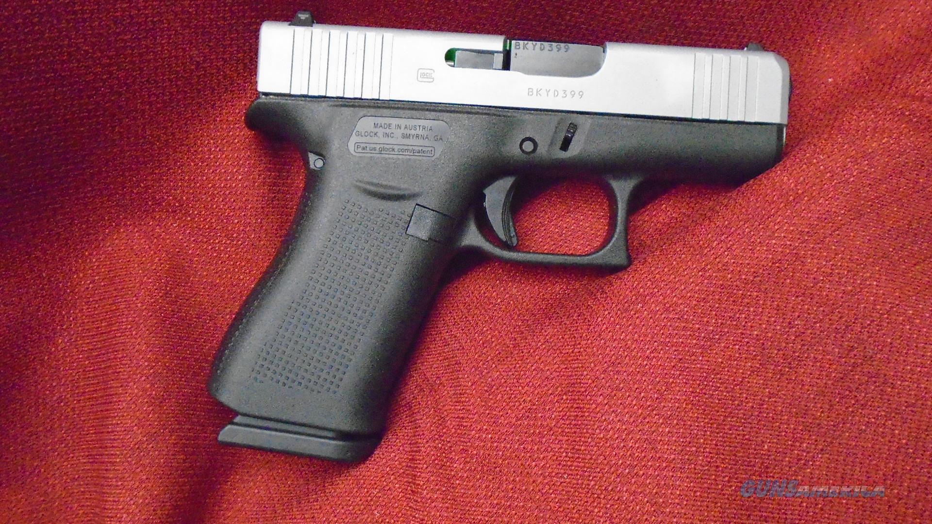GLOCK 43X 9mm 3 41in 10rd Silver Black
