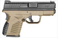 Springfield XDS 3.3 9mm FDE Essentials, 2 mags