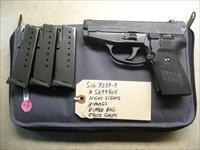 Used Sig P239, 239 9mm Pistol, Night Sights, 3 x Sig Magazines