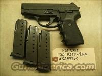 CALIFORNIA SPECIAL - Used Sig P239, 239 9mm Pistol, 3 Mags, Police Trade In