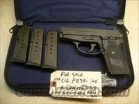 Used Sig P239, 239 .40 Caliber Pistol, 3 California Legal Mags, Night Sights, Police Trade In