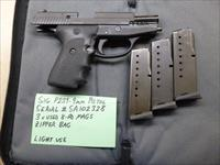 Used Sig P239 239 9mm Pistol with 3 x Sig Magazines, Night Sights & Zipper Bag