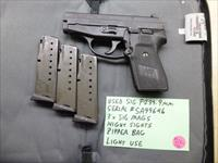 CALIFORNIA SPECIAL:  Used Sig P239 239 9mm Pistol with 3 x Sig Magazines, Night Sights & Zipper Bag