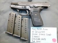 Used Sig P239 239 9mm Pistol with 3 Sig Mags