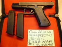 Used Gen-2 Glock 22 .40 Caliber Pistol, Police Trade-In