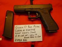 Used Glock 17 9mm Pistol, Night Sights, Police Trade-In