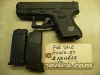 CALIFORNIA SPECIAL - Used GLOCK 27 Gen-3 .40 pistol, 2 Mags, Police Trade In
