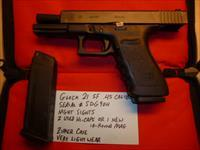 Used Glock 21SF, 21 SF .45 Caliber Police Trade-In, Night Sights