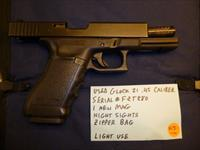 Used Glock 21 .45 Pistol with Night Sights
