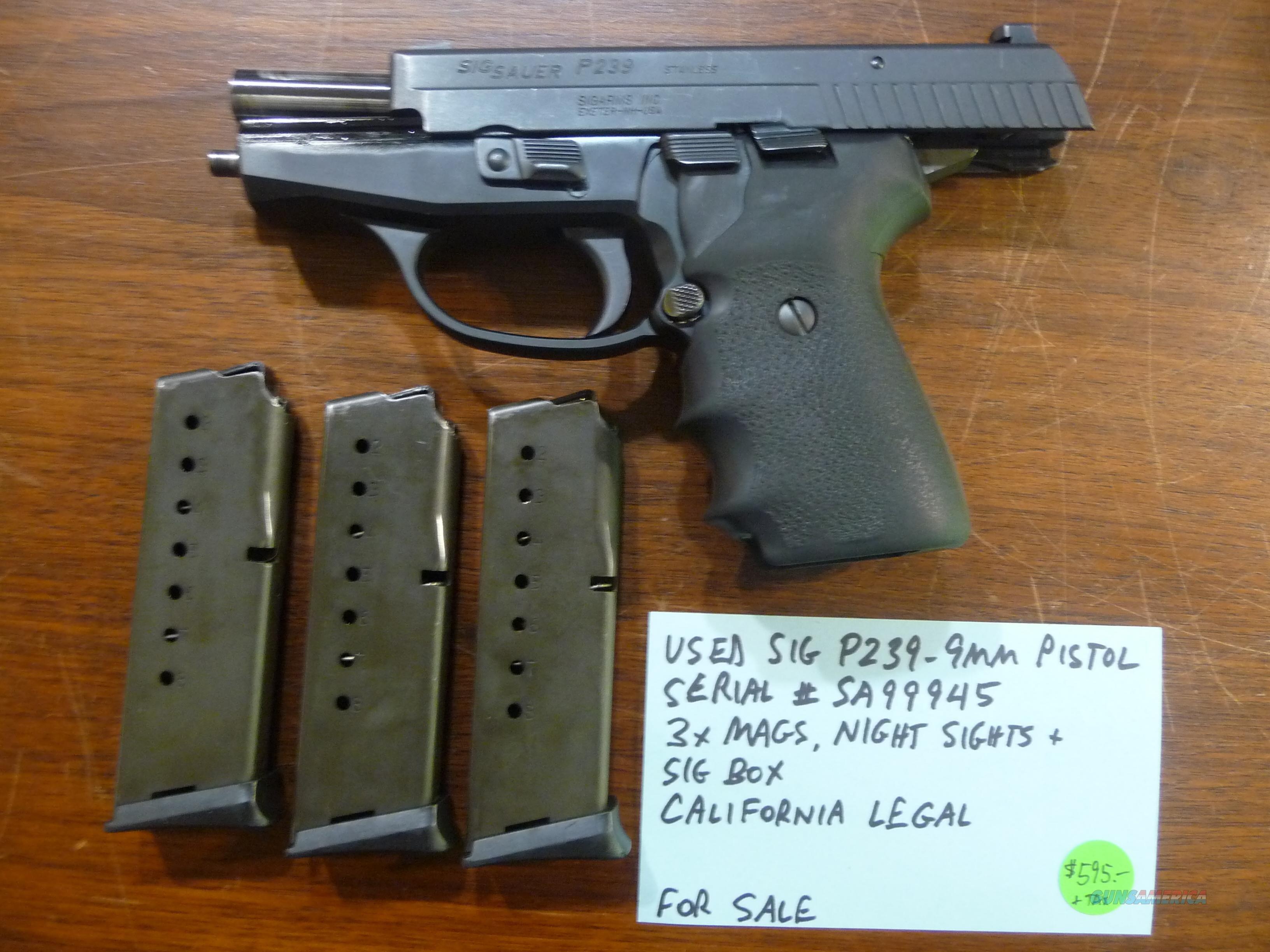 sig p239 legal california 9mm pistol box userimages