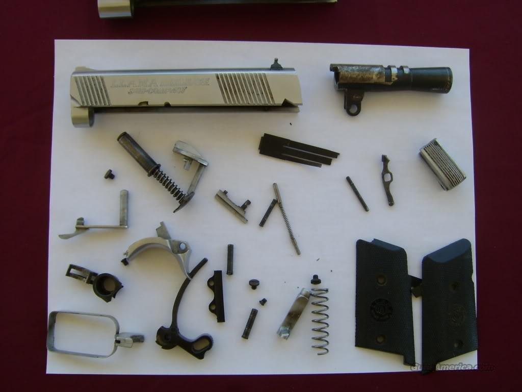 Llama MiniMax Compact .45 Chrome Parts Kit + M... for sale