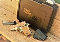 EASY PAY $60 DOWN LAYAWAY 12 MONTHLY PAYMENTS Sig Sauer Conceal Carry P238 stainless steel SS Deser Light Tan Pistol 238380DES 380 ACP Automatic Colt Pistol 2.7 in Hogue sig Desert Grip, Light Tan Finish Night Sights NS 7 Rd anodized