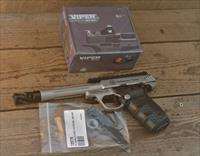 $48 EASY PAY Smith & Wesson PERFORMANCE CENTER Target Pistol W OPTIC VORTEX VIPER RED DOT 22 LONG RIFLE CHEAP QUIET SOFT SHOOTING blowback design custom muzzle brake SW22 VICTORY 12079 Stainless steel Picatinny rail 22 polymer thumb safety