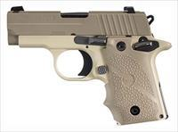 Sig P238 Desert Pistol 238380DES, 380 ACP, Pistol 2.7 in, Hogue Desert Grip, Light Tan Finish, Night Sights, 7 Rd  EASY PAY $60 LAYAWAY