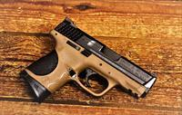 "EASY PAY $32 DOWN LAYAWAY  Smith and Wesson Compact Easily CONCEALED CARRY Self Defence FIREPOWER .40 S&W  3.5"" Barrel  Ambidextrous Controls M&P40C Palm Swell Grip 10 rd Polymer Duo Tone Flat Dark Earth Finish Two Tone FDE 10190"