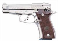 EASY PAY $74 DOWN LAYAWAY 12 MONTHLY PAYMENTS Concealed Carry Pocket Pistol Beretta 84FS Cheetah  10 round  magazine lightweight aluminum walnut grips brushed nickel Fixed sights  GJ84F212
