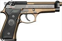 2. EASY  PAY $60 Beretta 92FS 92 Pistol Series Pistol 9mm 4.9in 15rd 92 FS  15 + 1  CAPACITY GUN CASE Plastic  Double / Single Action  Burnt Bronze Cerakote Italy JS92F340M