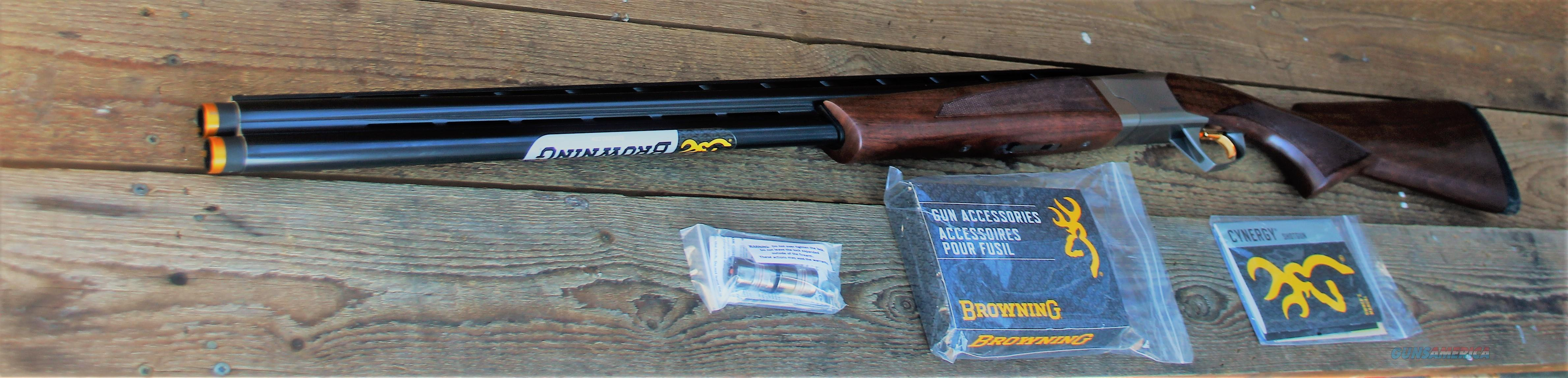 "$92 EASY PAY Browning over/under sporting clays Bird Gun 12 gauge Trap Skeet Cynergy 12 ga Pheasant hunting 30"" barrels Break action CX silver nitride steel receiver Grade I black walnut stock INFLEX  RECOIL PAD BG Nib  018709303"