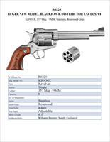 "EASY PAY $65 LAYAWAY  RUGER KBN36X 357/9MM 6.5"" SS WSS Revolver EXCLUSIVE 0320 736676003204"