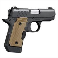 EASY PAY $67 DOWN LAYAWAY 12 MONTHLY PAYMENTS Kimber Micro 9 (LG) 9mm 3300176 Desert Tan Crimson Trace Laser grips  conceal carry concealed carry