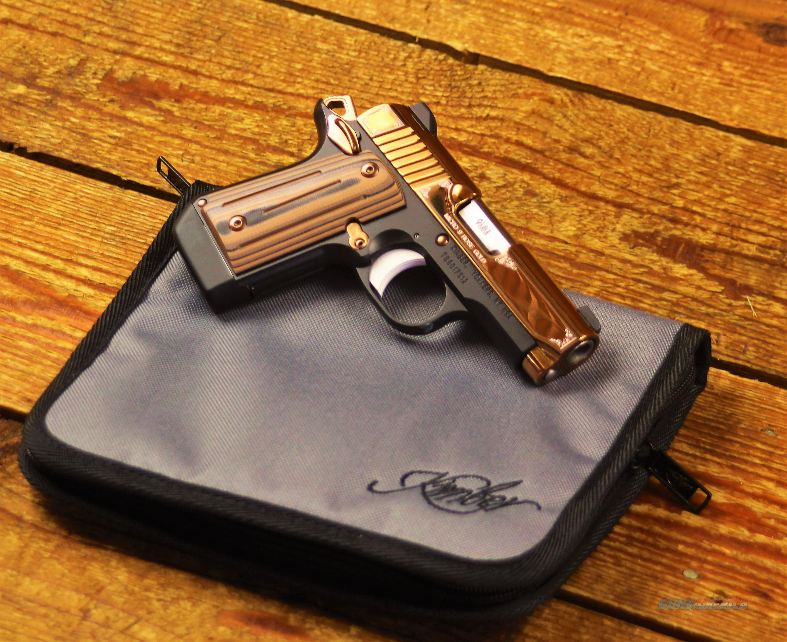 EASY PAY $85 DOWN LAYAWAY Personal Defense Concealed Carry Kimber Micro 9  Rose Gold PVD durable Coating Pistol 9MM 3 15