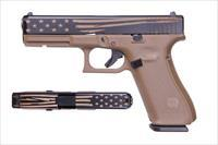 $53 Easy Pay Layaway Glock G17 Series gen 5 open Carry and concel and carry  FDE G-17 Laser Engraved Distressed Flag gen5  9MM Flat Dark Earth Polymer PA1750203DEDF
