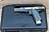 KIMBER ECLIPSE CUSTOM With A Hard Case for Founding Fathers July 4 1776 2nd Amendment Use ONLY.  10mm Caliber NIB Engraved Charcoal gray 1911 Magazine 8+1 Sights Fixed 3-dot tritium low profile night sights G-10 thumb grip EASY PAY 3000239