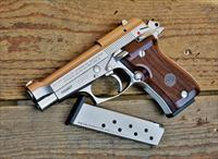"1. Easy Pay $72 Beretta Model 85FS Cheetah compact pistol Conceal Carry .380 ACP Handgun 3.8"" Barrel 8 Rounds Walnut Grip Nickel Finish J85F212"