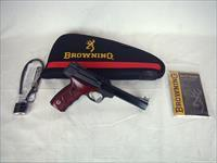 "Browning Buckmark Plus UDX Rosewood 22lr 5.5"" NEW #051533490"