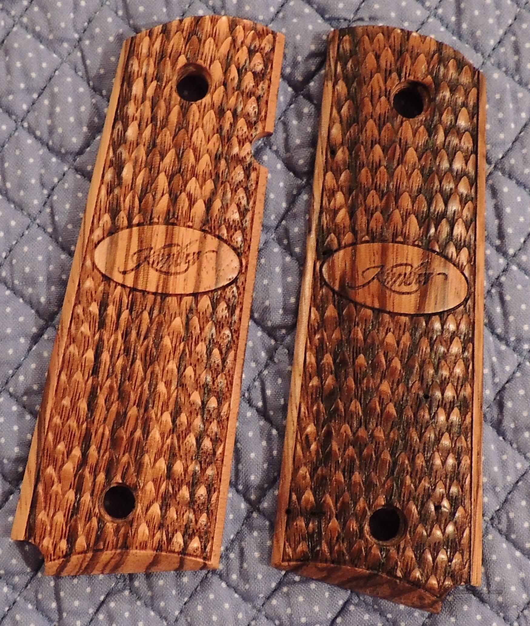 Kimber Full Size 1911 Wood Raptor Grips For Sale