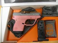 Taurus 738 Semi-Auto Pistol 1738039P, 380 ACP, 2.84 in, Pink Polymer Grip, Stainless Finish, 6 Rd