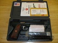 Ruger Model P512MKIIIRP 22/45 Pistol 10140, 22 Long Rifle, 5.5 in Bull, Cocobolo Wood Grip, Blue Finish, 10 Rd