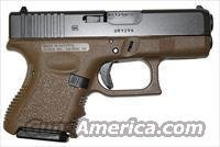 Glock 27 FDE Subcompact Pistol PI2750201, 40 S&W, 3.46 in, Polymer Grip, Dark Earth Finish, Fixed Sights, 9 Rd