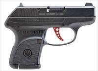 "Ruger LCP Custom Centerfire Pistol 3740, 380 ACP, 2.75"", Black Synthetic Grip, Blue Finish, 6 Rd, Red Aluminum Trigger"