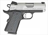Springfield EMP Enhanced Micro Pistol PI9210LP, 9mm, 3 in, G10 Composite Grip, BiTone Finish, 9 Rd