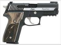 Sig P229 Pistol E29R40EQ, 40 Smith & Wesson, 3.9 in, Wood Grip, Two-Tone Finish, Night Sights, 12 Rd