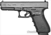 Glock 21 Gen4 Pistol PG2150203, 45 ACP, 4.60 in, Black Grip, Black Finish, 13 Rd