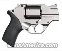 "Chiappa White Rhino 200DS Revolver, 357 Magnum, 2"", Nickel Finish, Adjustable Sights, 6 Rd"