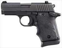 Sig P938 Ambidextrous Pistol 9389BRGAMBI, 9mm, 3 in, Rubber Grip, Black Finish, Siglite Sights, 6 Rd