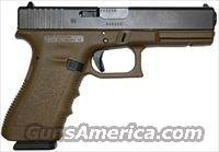 Glock 22 FDE Gen 3 Standard Pistol, 40 S&W, 4.49 in, Polymer Grip, Dark Earth Finish, Fixed Sights, 15 Rd