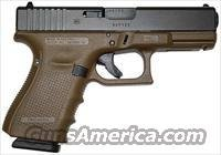 Glock 19 FDE Gen4 Pistol PG1950203D, 9mm, 4.0 in, Flat Dark Earth Grip, Gas Nitride Finish, 15 Rd