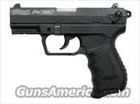 Walther PK380 Pistol WAN40001, .380 Auto, 3.66 inches, Synthetic Grip, Black Finish, 3 Dot Steel, Drift-Adjustable Rear Windage Sights, 8 Rd