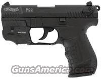 Walther P22 DA/SA Pistol LASER PACK QAP22010, 22 Long Rifle, 3.4 Inches, Black Grip, Black Finish, 10 Rd