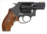 "Smith & Wesson 351 Police Department Revolver 160228, 22 Magnum (WMR), 1 7/8"", Wood Grip, Black Finish, 7 Rd"