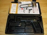 "Ruger SR9C Compact Pistol 3314, 9mm, 3-1/2"", Glass Filled Nylon Grip, Nitrodox Pro Black Finish, 17 Rd"