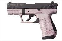 Walther P22 DA/SA Pistol 5120319, 22 Long Rifle, 3.42 in Threaded, Pink Carbon Fiber Finish, 10 Rd
