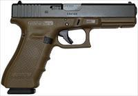Glock 22 Gen 4 Pistol PG2250203D, 40 S&W, 4.49 in, Polymer Grip, Flat Dark Earth Finish, 15 Rd