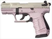 Walther P22 DA/SA Pistol 5120320, 22 Long Rifle, 3.42 in Threaded, Nickel Slide, Pink Carbon Fiber Finish, 10 Rd