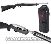"Ruger 10/22 Takedown Rifle 11100, 22 Long Rifle, 18.5"", Black Syn Stock, Stainless Finish, 10 Rd"