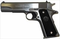 "Colt 1911 38 Super Government Pistol O2091, 38 Super Auto, 5"", Checkered Black Rubber Grip, Stainless Finish, 9 Rd"